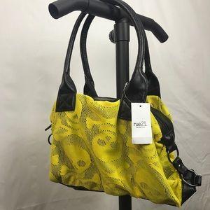 Rue 21 yellow Skeleton ☠️ mesh looking purse